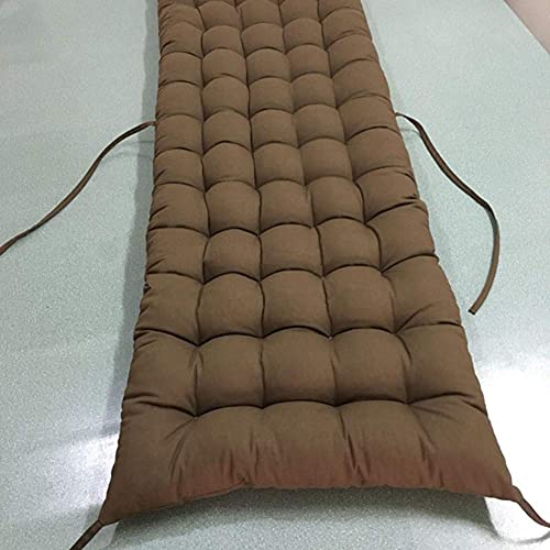 erddcbb Cojín de Banco Papasan, Cojines de Asiento rectangulares Cojín de Ventana salediza Cojines de sillón universales para Muebles de Patio Omega capitoné - Color café 40x120cm (16x47In)