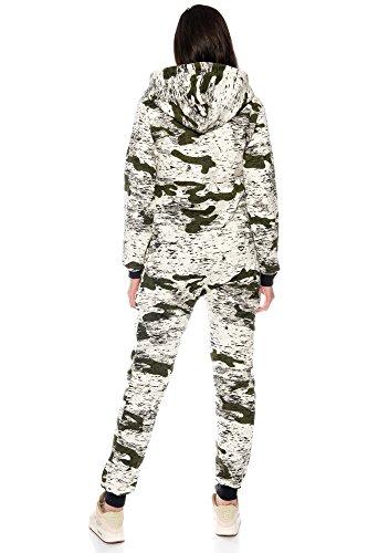 Crazy Age Jumpsuit Army Camouflage Tarnfarben Batik CA 2820 (Khaki, M) - 4