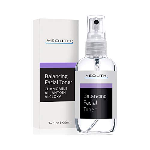 YEOUTH Balancing Gesichts-Toner, Feuchtigkeitsspendendes Gesichtswasser, Hautton, Frische, Haut – Porenverkleinerer, Perfekt für reinigendes Pflegemittel, Serum, bester Anti-Aging-Toner – 100 ml