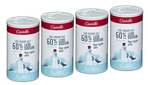 Castello Since 1907 Natriumreduzierte Salzalternative mit 60% weniger Natrium – 4 Packungen x 80 g - Insgesamt: 320 g