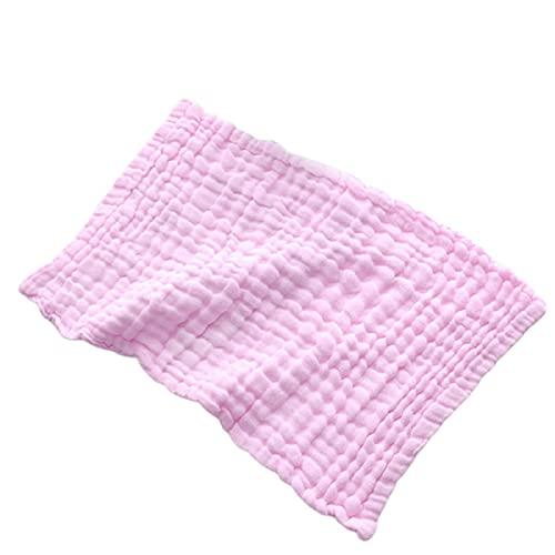 LIXSLT Paño de muselina para eructos de 6 capas, extra absorbente y suave, paños de mano de algodón para niños, unisex, para bebés, niñas, verano, para sudar la boca (tamaño: A Pink)