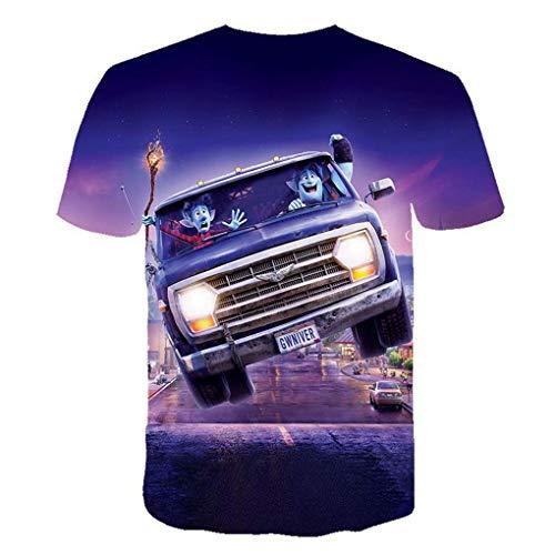 Unisex 3D Impresión Digital Película Y Televisión Periférica Niña De Las Flores Camiseta Camiseta Verano Personalizada Casual Manga Corta Camisetas Tops(XXL, A)