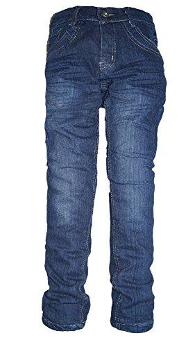 familientrends Thermojeans Jungen Thermohose Schneehose gefütterte Jeans warme Hose mit Fleece, Grösse Bekleidung:110/116;Farbe:Model 2