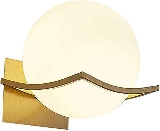 DALIBAI Frosted Glass Ball Wandlamp, bolvormige LED Wandlamp, moderne stijl, metalen beugel eenvoudige wandlamp E27, gesch...