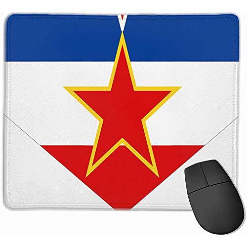 Anti-lip Mousepad Joegoslavië Vlag Gaming Mouse Pad Mat Rubber Base voor kantoor en thuis