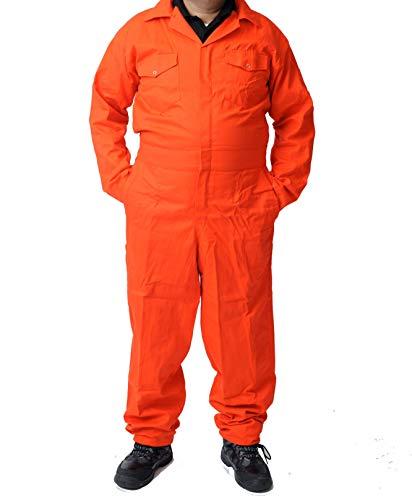 Road Master Herren-Overall, Polyester-Baumwolle, Maler-Anzug, Dekorateure, Mechaniker, Arbeitskleidung Gr. XX-Large, Orange
