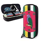 Bolígrafo,Dominica Flag Leather Pencil Bag Papelería De Ap