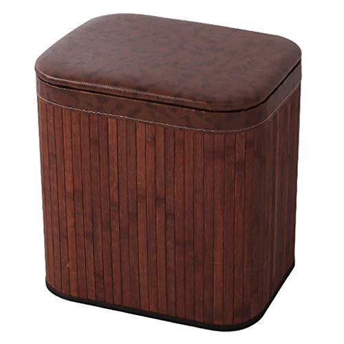 JQQJ Ottomaanse doos bamboe materiaal opslag Ottomaanse opslag banken entree opslag voet rust stoel bank