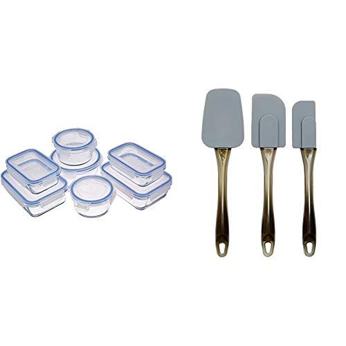 AmazonBasics - Recipientes de cristal para alimentos