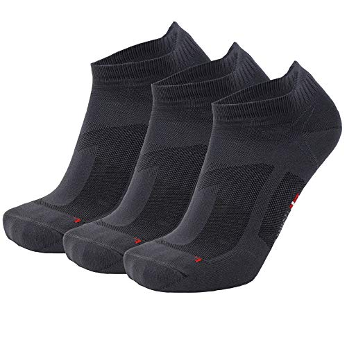 DANISH ENDURANCE Low-Cut Sportsocken (Grau - 3 Paare, EU 43-47)