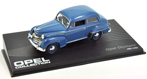 Atlas Opel Olympia 1951-1953 Fertigmodell in Displayvitrine Maßstab 1:43