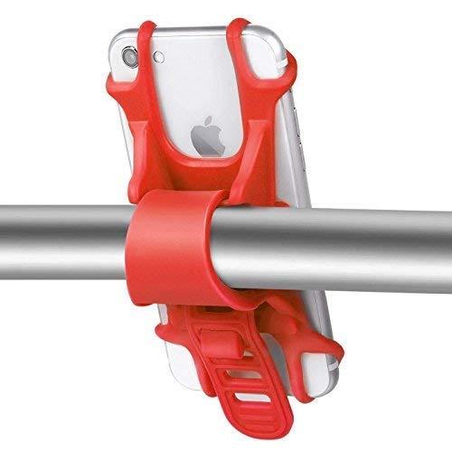 Golf Trolley Handyhalter / GPS Halterung / Smartphone Halter / für alle gängigen Smartphones (Rot)