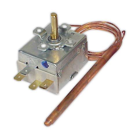 DOJA Industrial | Termostato 0/120° IMIT Sin mando | Temp. 0/120° Bulbo 95 mm diámetro 6,5 mm/Conmutado