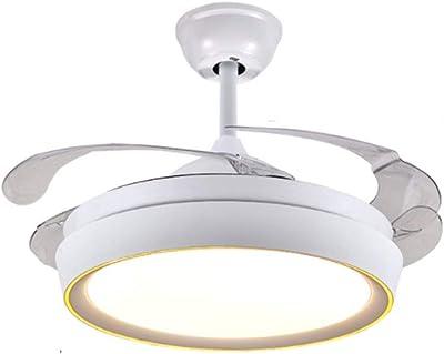 Iluminación de techo Iluminación colgante Ventiladores de techo de 42 pulgadas con lámpara, lámpara de ventilador LED, iluminación colgante de ventilador de restaurante moderno, interruptor de control: Amazon.es: Hogar
