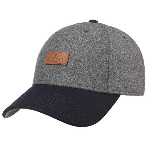 Bugatti Patch Cap Basecap Baseballcap Herrencap Wollcap (S/M (54-57 cm) - dunkelblau)