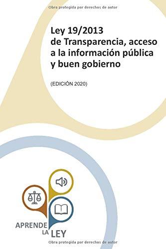 Ley 19/2013 de Transparencia, acceso a la información pública y buen gobierno