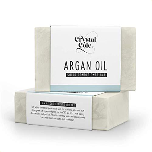 Crystal Cole – Champús en Barra/Acondicionadores en Barra - Vegano - 100% libre de plástico - orgánico natural (Aceite de Argán, Acondicionador)