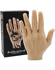 Tattoo Oefenhand - Rayyl Zachte Siliconen Hand Tattoo Oefen Nep Hand Flexibele Siliconen Handen Nep voor Tattoo Beginners Tattoo Kunstenaars Tattoo Benodigdheden (Linkerhand)