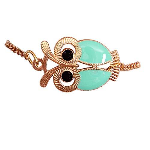 Qiuday Unendlichkeits-Eulen-Perlen-Freundschafts-mehrschichtiges Charme-Lederarmband-Geschenk Mode frauen schöne eule schmuck zubehör freundschaft charme...