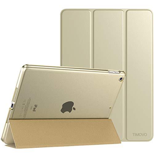 TiMOVO Hülle für Neu iPad 8. Gen 2020/7. Gen 2020 10,2 Zoll Tablet, Ultra Leicht Schutzhülle mit durchsichtiger Rückseite, Auto Schlaf/Wach Funktion, Magnetische Abdeckung - Champagne Gold