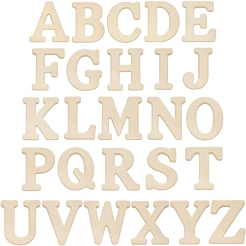 26 Pieces Wooden Alphabet Letters, Wood Wall Decor (6 in)