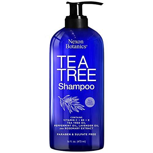 Nexon Botanics Tea Tree Shampoo 16 fl oz - Special Tea Tree Oil Shampoo for Dry, Itchy Scalp,...