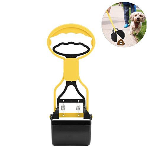 Kotschaufel Kotaufheber Pet Pooper Scooper Arme Länge Pet Scoop Reiniger Grabber Picker für Katzen und Hunde Outdoor Indoor Haustierabfälle(Gelb)