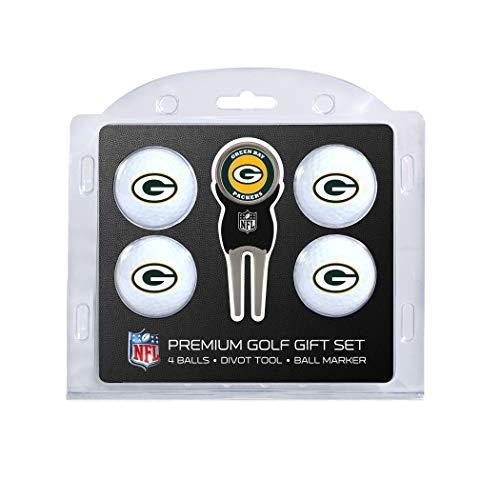 Team Golf NFL Golfbälle (4 Stück) & Pitchgabel mit abnehmbarem, doppelseitigem magnetischem Marker, 31006, Green Bay Packers, Einheitsgröße