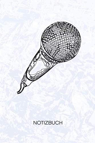 NOTIZBUCH: A5 Kariert - 120 Seiten KARO - Geschenkidee für Künstler Heft Instrumente Notizheft - Mikrofon Notizblock Sänger Motiv - Musiker Geschenk Gesangsunterricht