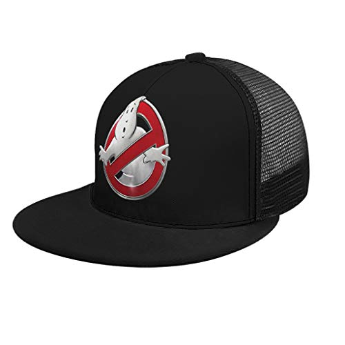YxueSond ghostbusters-images-png-logo-7 Screenprinted UnisexMesh Terug Trucker Hoed Past Mannen & Vrouwen Sport Outdoor