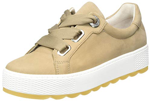 Gabor Shoes Damen Comfort Basic Sneaker, Beige (Silk 31), 40.5 EU