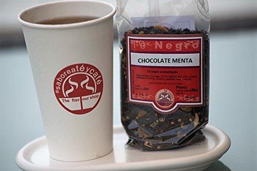 SABOREATE Y CAFE THE FLAVOUR SHOP Te Negro Chocolate Menta En Hebra Hoja A Granel Infusion Natural Energetico 100 gr