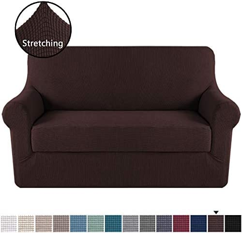 Best H.VERSAILTEX Loveseat Slipcover 2 Piece Stretch Loveseat Cover Couch Cover|Sofa Cover for Loveseat w