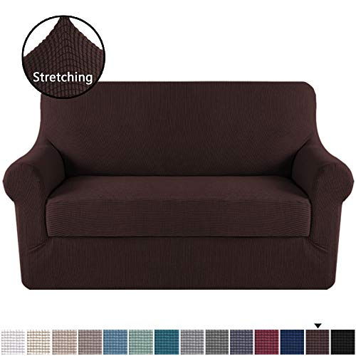 """H.VERSAILTEX Loveseat Slipcover 2 Piece Stretch Loveseat Cover Couch Cover