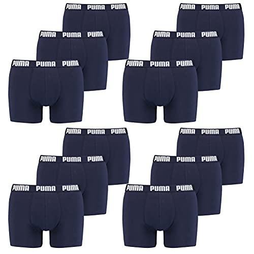 PUMA Boxer Briefs Boxershorts Men Herren Everyday Unterhose Pant Unterwäsche 12 er Pack, Farbe:002 - Navy, Bekleidungsgröße:L