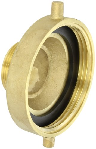 Dixon Valve HA4525F Brass Fire Equipment, Hydrant Adapter with Pin Lug, 4-1/2