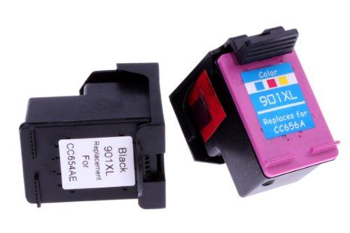 2 cartuchos de tinta compatibles con HP 901 XL color y 901XL negro