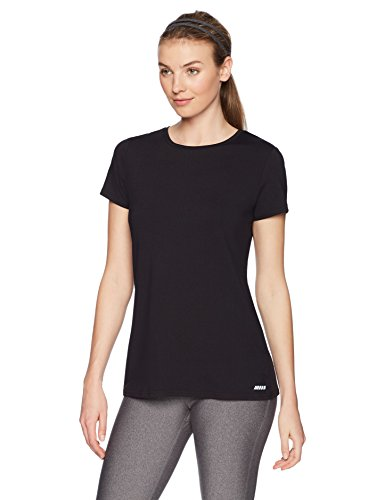 Amazon Essentials 2-Pack Tech Stretch Short-Sleeve Crew T-Shirt Athletic-Shirts, Negro, Small