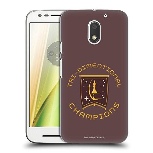 Head Case Designs Licenciado Oficialmente Star Trek Champion Logos de la Flota Estelar Carcasa rígida Compatible con Motorola Moto E3