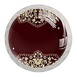 4 pomos para aparador – Colorido mango decorativo para cajón decoración del hogar Hardware Tiradores estilo árabe patrón árabe