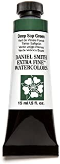 DANIEL SMITH, Deep Sap Green Extra Fine Watercolor 15ml Paint Tube, 15 ml