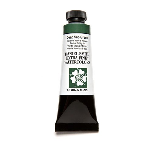 DANIEL SMITH 284600175 , Deep Sap Green Extra Fine Watercolor 15ml Paint Tube, 15 ml