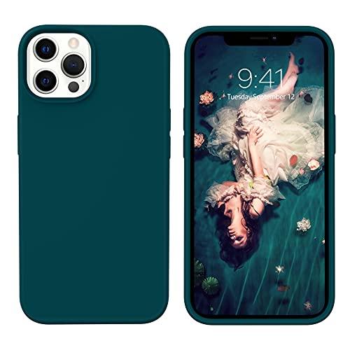 YINLAI iPhone 13 Pro Hülle Silikon,Handyhülle iPhone 13 Pro Schutzhülle Slim Hülle Cover Liquid Silikon Gel Matte Kratzfest Hülle für iPhone 13 Pro 6,1 Zoll,Dunkelgrün