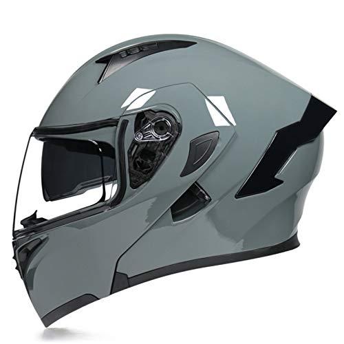 Modular Casco Moto Integral Modulares Casco Moto con Doble Visera Casco de Motocicleta ECE Homologado Cascos de motocross para Adultos Hombres Mujeres Cuatro Estaciones T,XL