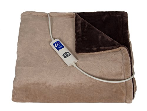Trebs Elektrische fleece-deken, temperatuurniveaus bruin
