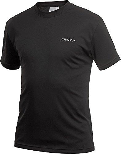 Craft Running Active - T-Shirt Funzionale da Uomo, Uomo, Nero, M