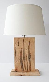 Natural Grain Table Lamp - Wormy Maple  Ambrosia