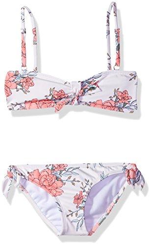 Billabong Girls' Girls' Nova Floral Bandeau Swim Set Seashell 7
