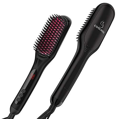 Ionic Hair Straightener Brush by COOLKESI, 30s...