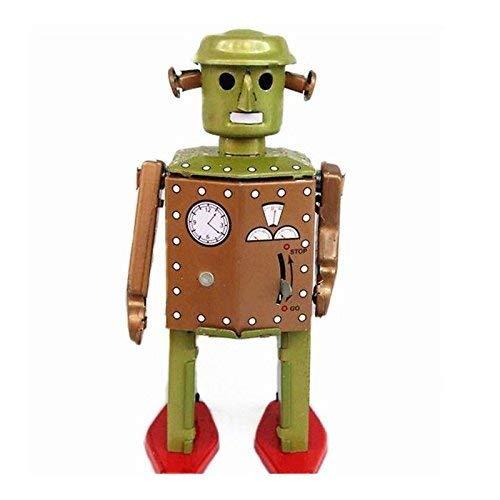 DIVISTAR Klassisches Vintage-Uhrwerk zum Aufziehen, Retro-Roboter, Fotografie, Kinder aus Blech, Spielzeug mit Schlüssel